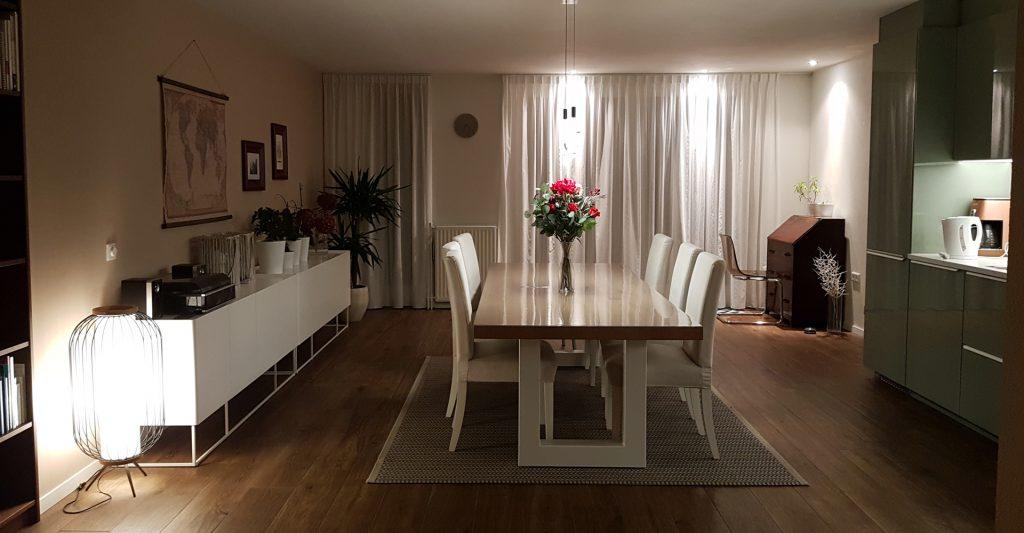 Voorbeeld lichtplan voor huiskamer