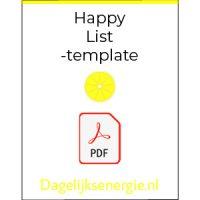 Icon van de Happy List Template: Jouw snelweg naar geluk