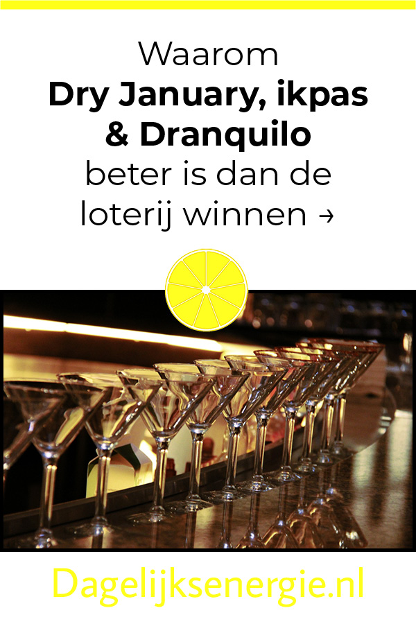 pin blog over alcoholvrij dranquilo dry january op Pinterest