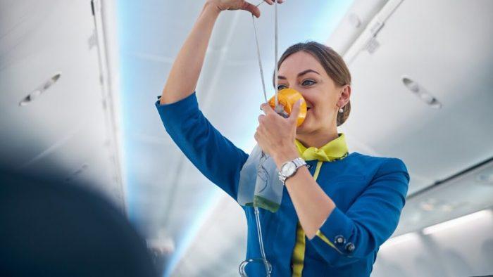 zelfzorg zoals in vliegtuig